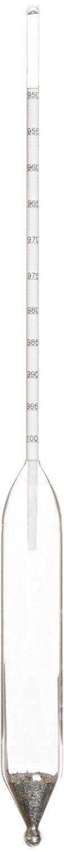 Thermco GW318H Plain Form Density Hydrometer, ASTM 318H, 950 to 1000kg/m3 Range, 0.5kg/m3 Division, 330mm Length