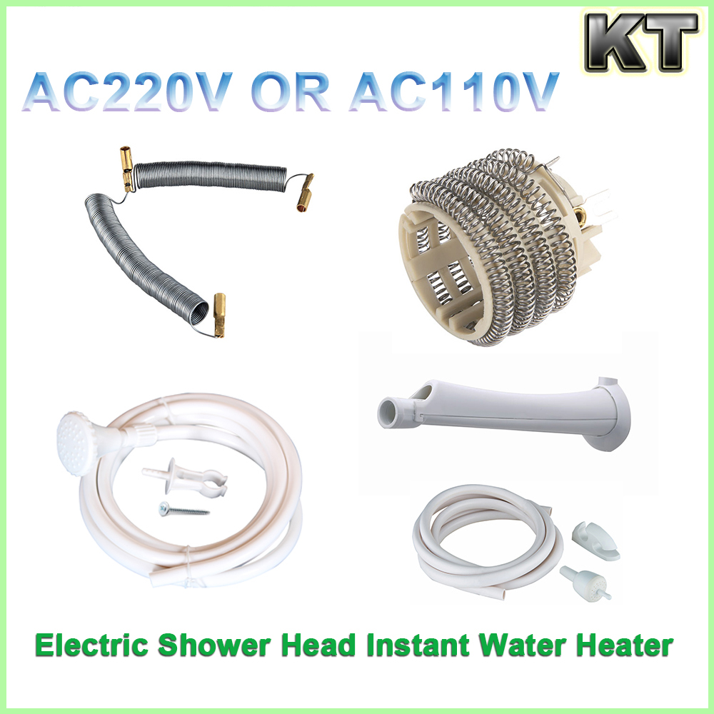 Bathroom electric tankless instant water heater shower head