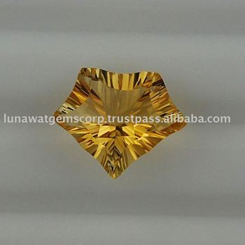 Citrine Yellow Lite Concave Cut Pantagon 16x13mm LF008 CYL