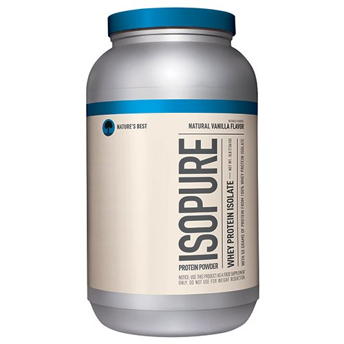 Isopure Naturally Flavored Protein Powder, 100% Whey Protein Isolate, Flavor: Natural Vanilla, 3 Pounds (Packaging May Vary)