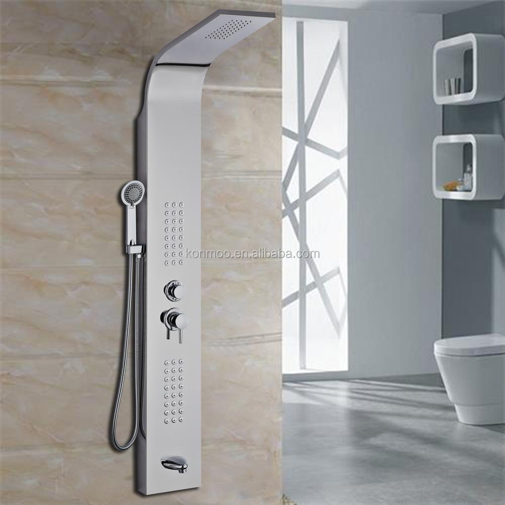 Bathroom Shower System With Rain Shower Head Massage Body Jets ...