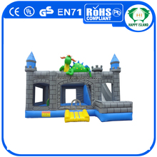 HI gaint outdoor square dinosaur inflatable combo jumper for toddlers