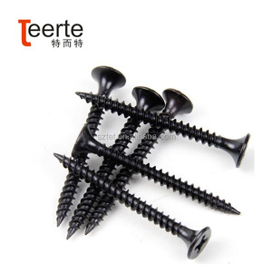 Factory Price High Quality Black Fine Thread Drywall Screw Phillips Flat Bugle Head Drywall Screw