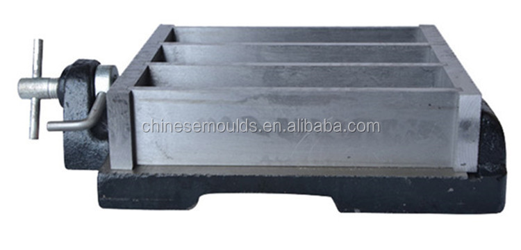 40x40x160mm Steel Three Gang Mould For Prisms