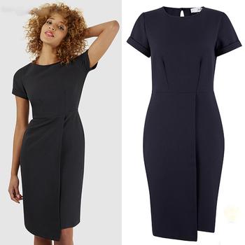Supplier Black Asymmetric Wrap Skirt