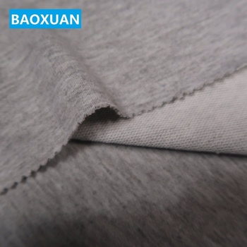 China factory 60% polyester 35% cotton 5% spandex 240gsm grey terry cloth knit french terry fabric wholesale