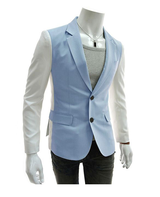 0a0022fc22a1 Get Quotations · 2015 New Arrival Casual Patchwork Blazer Men Stylish Brand  Cotton Slim Fit Men's Suit Jackets Coats