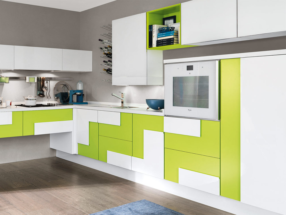 Color Combination Modular Kitchen Cabinet Design,Germany ...