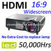 Portable 1500Lumens LCD HDMI Video Movie 720P 1080P LED Projector