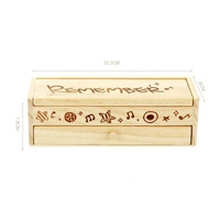hot selling kids birthday present office classroom stationery desktop storage box custom logo wooden pencil case