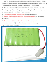 nimh 6.0v nicd battery pack Ni-MH AA batteries pack for rc car