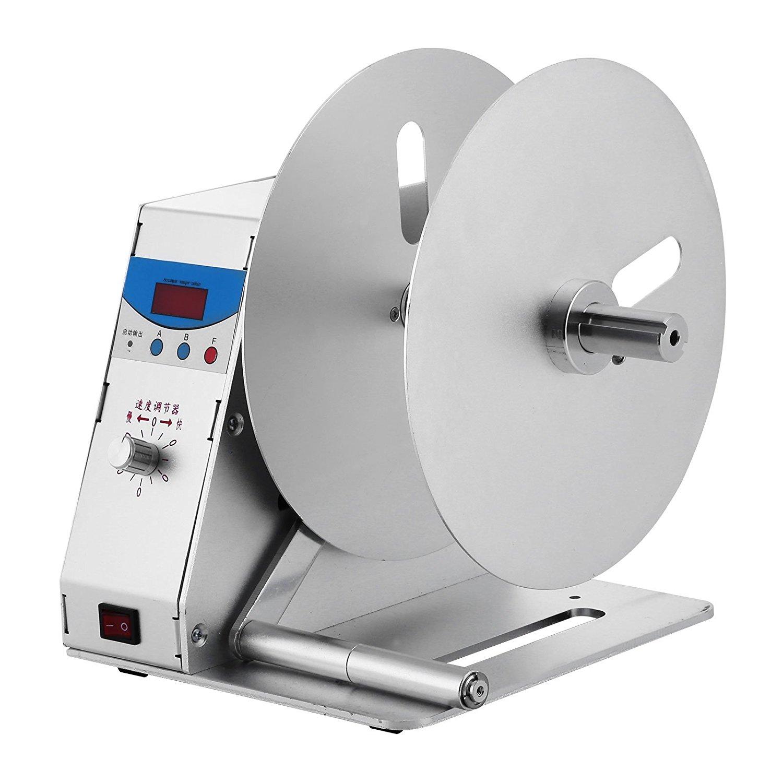 OrangeA Label Rewinder Machine Automatic Label Rewinder Speed Adjustable Label Printer Rewinding Machine Digital Tag Rewinder (Label Rewinder)