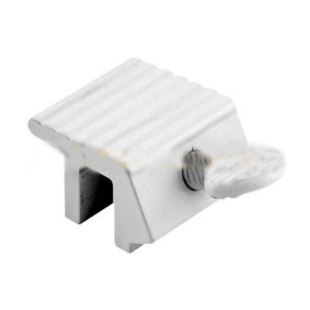 Plastic White Defender SecurityProducts U 9868 Sliding Door Lock with  Bushing