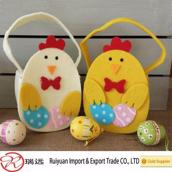 2016 wholesale easter gifts duck shape felt easter basket for egg 2016 wholesale easter gifts duck shape felt easter basket for egg hunting negle Images