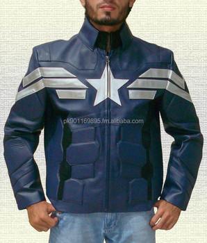 Captain America Cuir Buy Pu Veste Replica En xa8q0PU