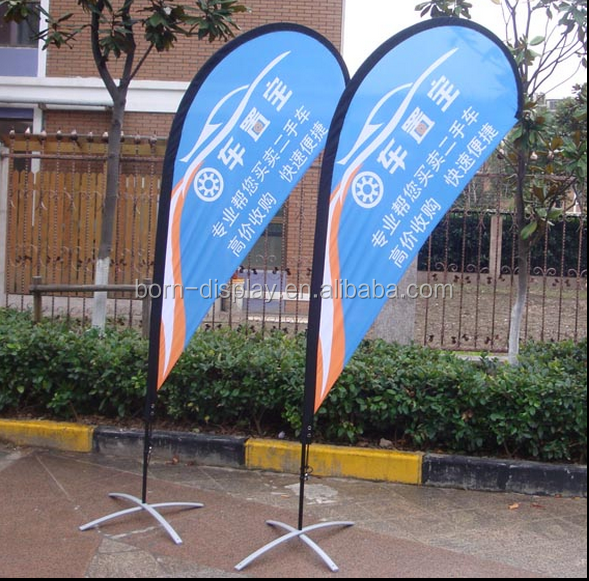 Outdoor Advertising Exhibition Frabic Graphic Elastic Pole Supply Beach Flying with Aluminum Cross Base