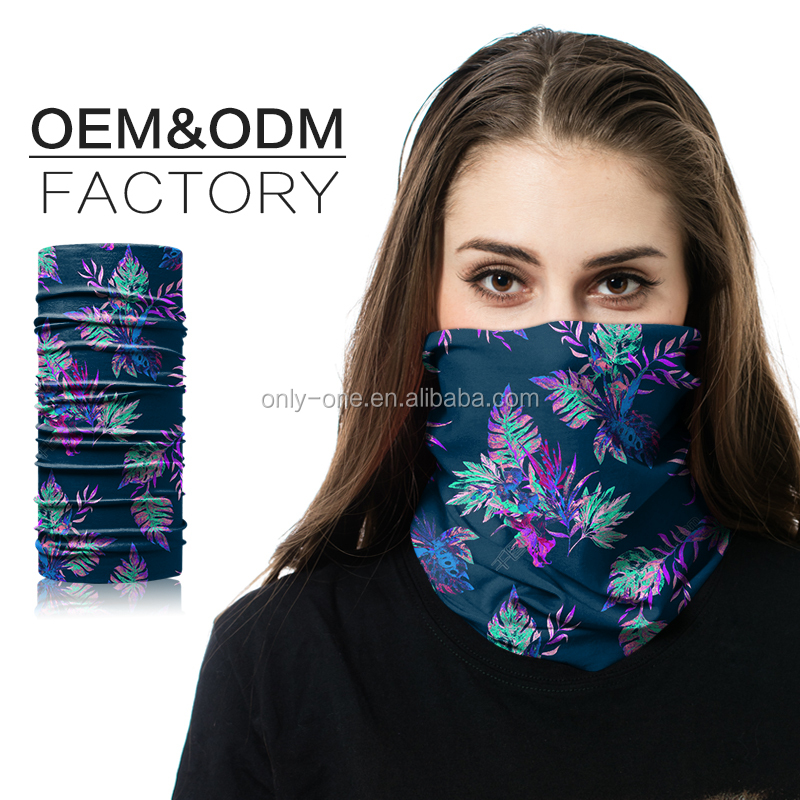 Digital Print Animal Winter Outdoor Sun Protection Elastic Professional Seamles Tube Bandana