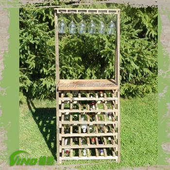Handmade Wood Bottle Beer Rack Display Shelf,Custom Antique Liquor Display  Showcase,Whiskey Display Stand With Glass Top Hanger - Buy Wine Bottle