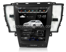 Newest big full screen car dvd player for Toyota Crown 2006-2009 offer TPMS,RDS,OBD,GPS stereo