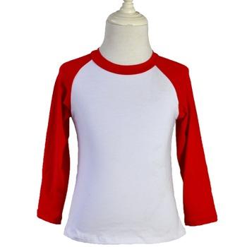 Wholesale kids raglan shirts pattern customized baby girl for Wholesale children s t shirts