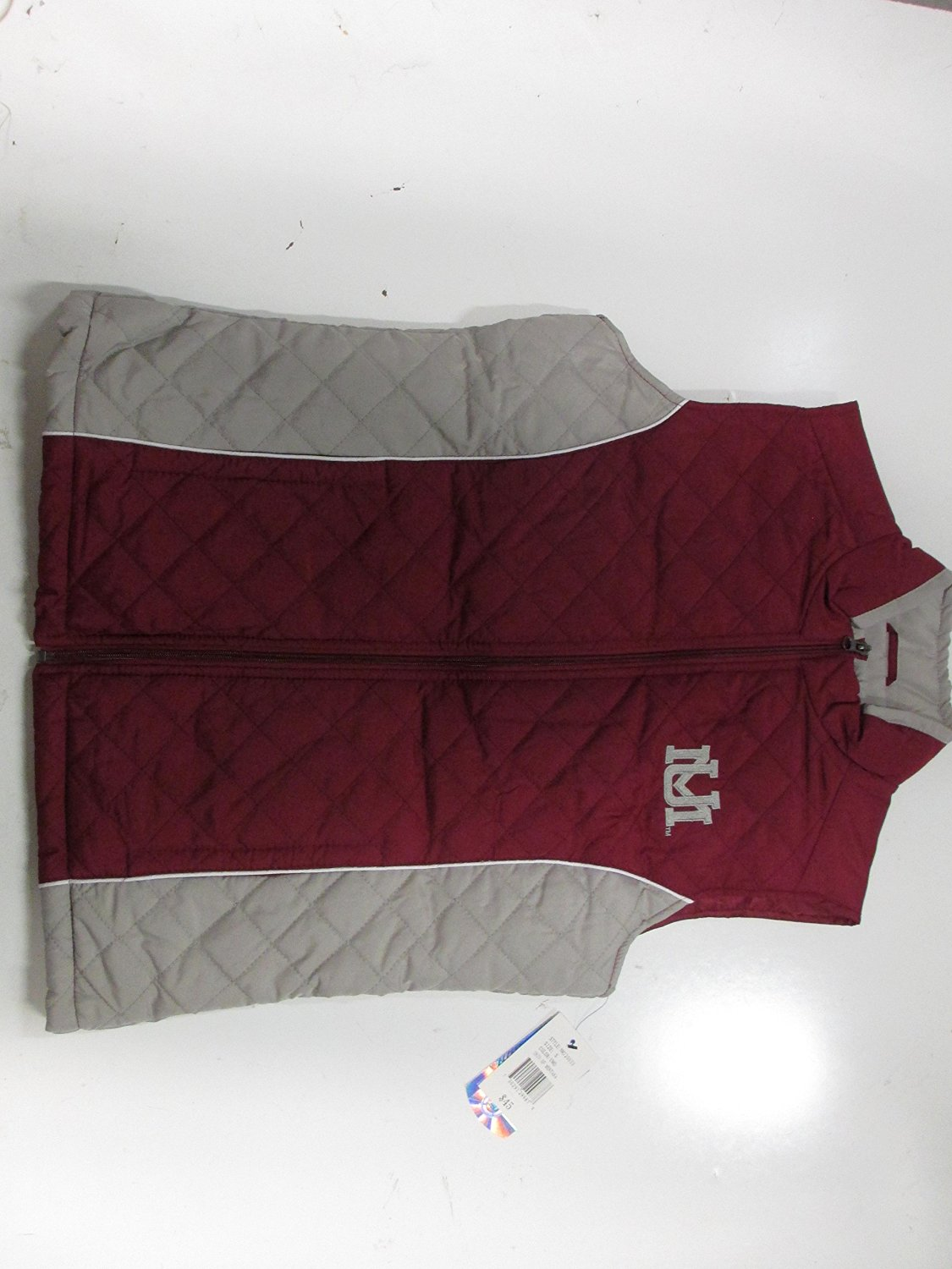 Montana Grizzlies Womens Small through 2X-Large Embroidered Full Zip Quilted Vest Jacket PAMZ 2804 PAMZ 2808