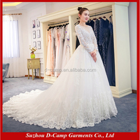 WD352 Stunning lace long sleeve wedding gowns princess bridal gowns wedding dresses online