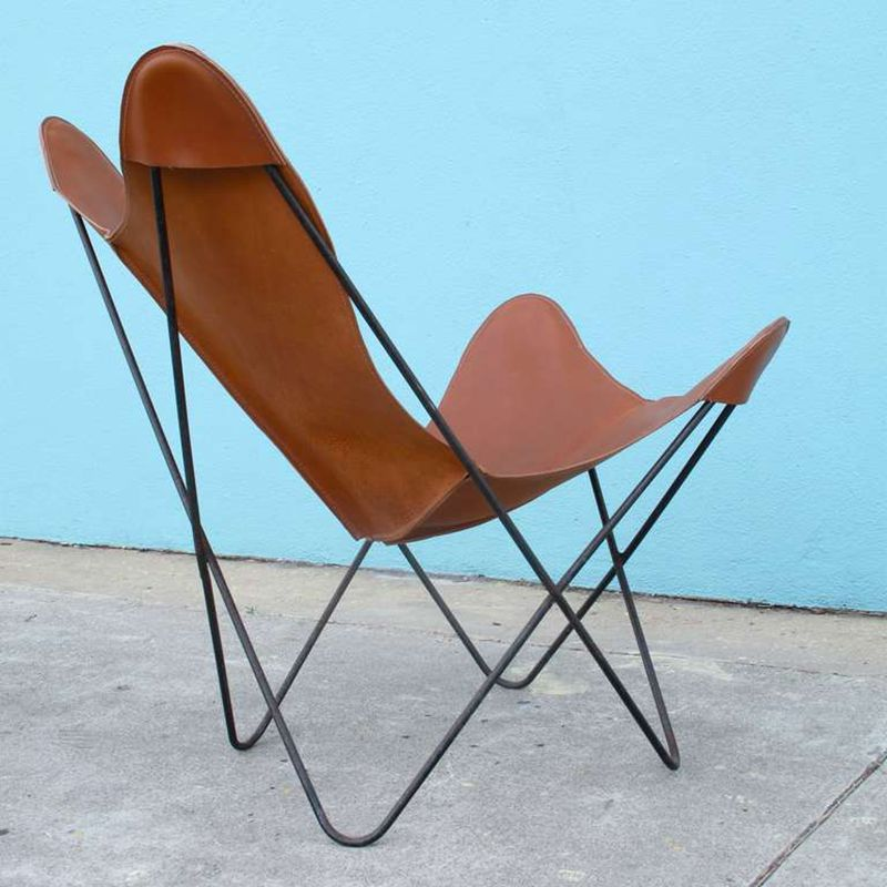Hot sale easy folding padded butterfly chair from China, View metal ...