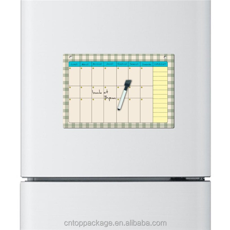 Print Custom Creative Dry Erase Flexible Fridge Magnet/Magnetic Whiteboard/Message board/Memo Pad