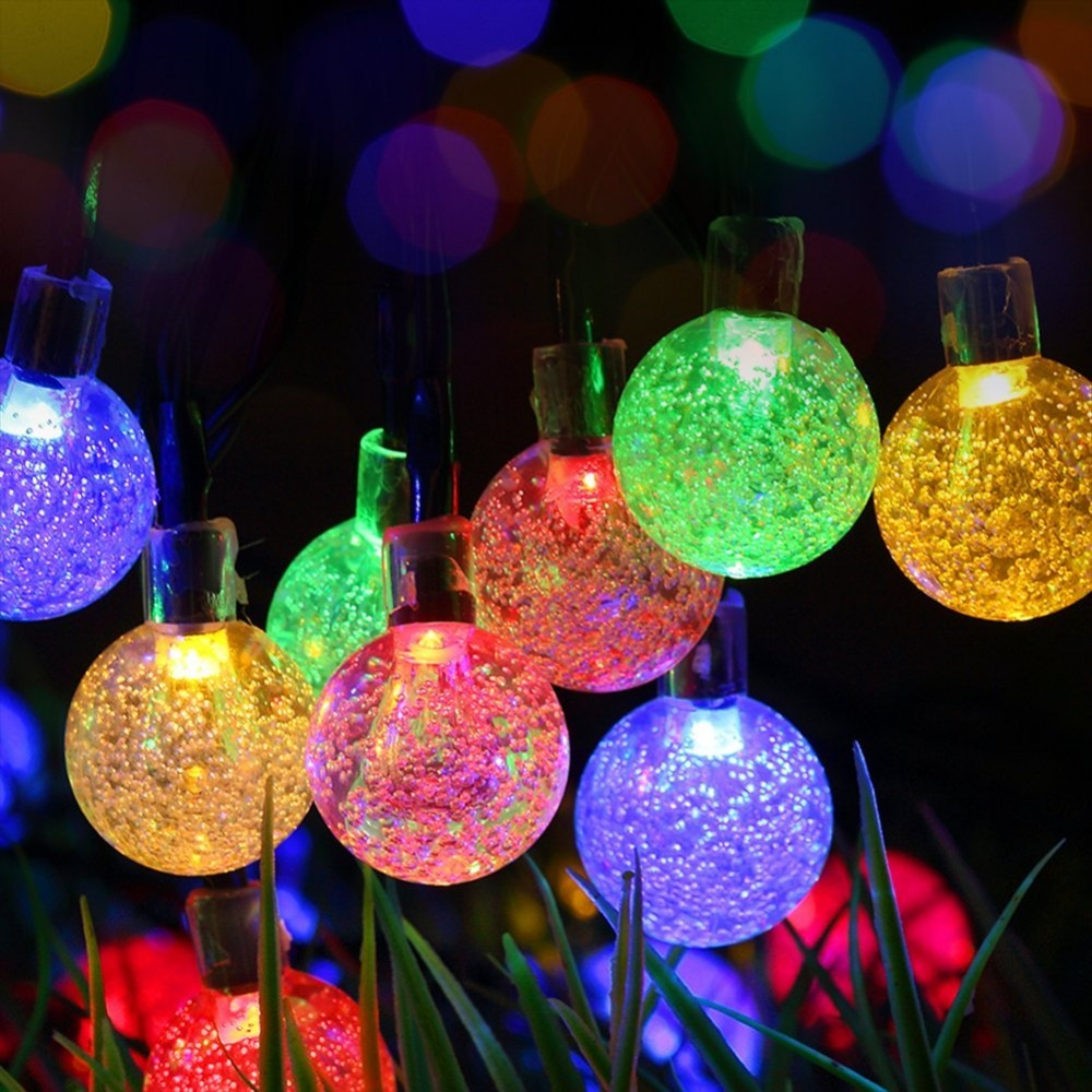 color changing solar crackle glass ball led light led solar