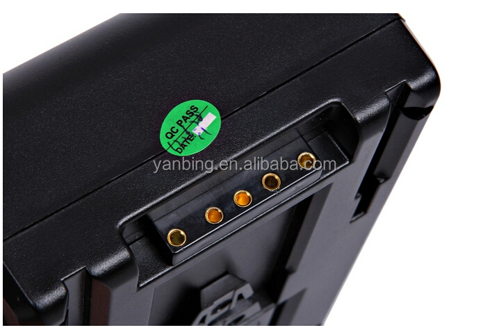 Professional photographic equipment camcorder lithium battery BP130SL 8800mAh with LED display