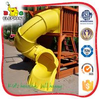 playground water plastic spiral slide