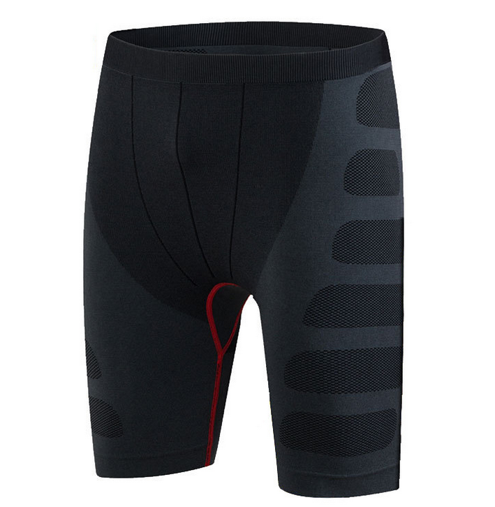 Black Quick Drying Cheap Men Compression Shorts Activewear Fitness Running Shorts