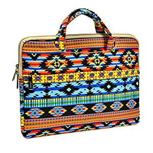 "Unik Case Abstract Aztec Bohemian Zipper Laptop Sleeve Bag Case Cover for All 13"" 13-Inch Laptop Notebook / Macbook Pro / Macbook Unibody / Macbook Air / Ultrabook / Chromebook"