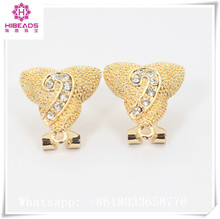 Gemsnorm jewelry high quality gold/silver plated earrings findings factory direct jewelry components with Fine plating process