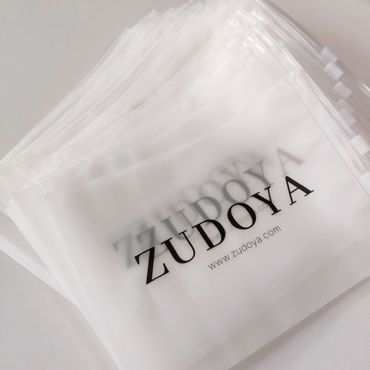 Customized Clothing Clear Plastic Frosted Ziplock Bag For T Shirt Swimwear Packaging
