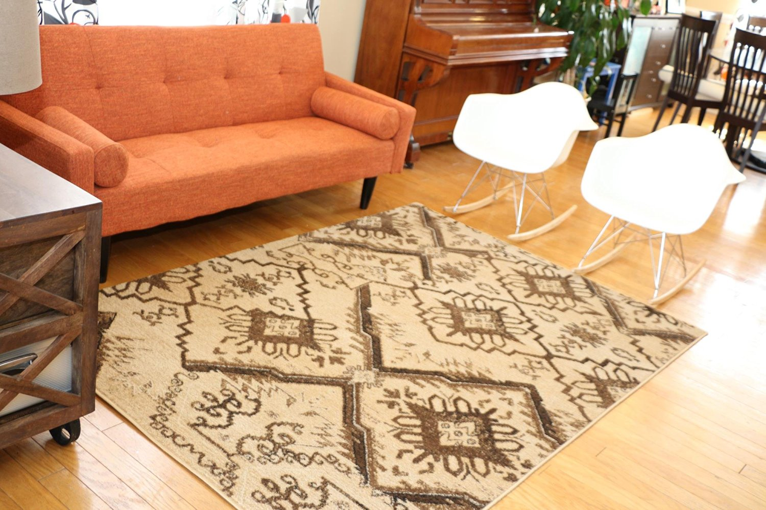 Feraghan/New City hil_d85_1048_beige_8x11 Brand New Contemporary Modern Floral Flowers Area Rug, 8' x 10', Brown/Beige