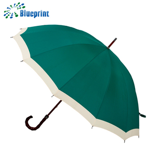 Wholesale 27 inch 12 ribs classical big golf wooden umbrella