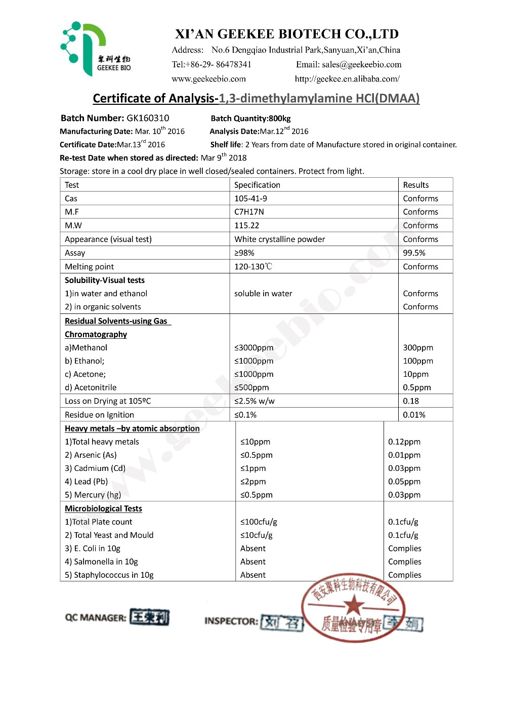 High Purity Pure Dmaa Powder 1 3 Dimethylamylamine With Best Price - Buy 1  3 Dimethylamylamine Hcl,Pure Dmaa Powder,Pure Dmaa Powder For Sale Product