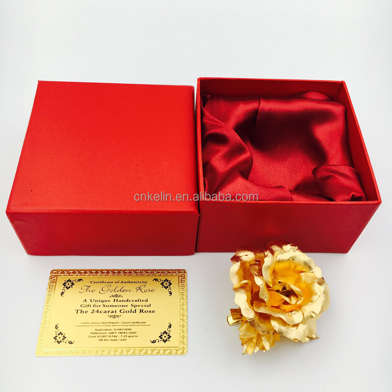6.5cm Creative Proposal Flower pure gold 24K Rose in high quality finishing and natural look