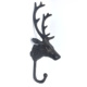 Rustic antique creative animal head shaped coat key hooks rack hardware for bathroom wall decoration