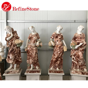 Modern garden decorative famous white marble stone statue abstract four season god sculpture