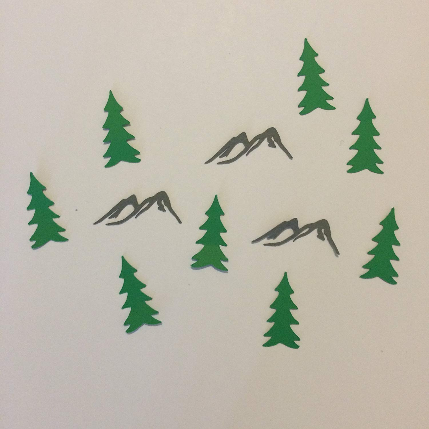 1in Confetti Set, Mountain Cut Outs, Tree Cut Outs, Woodland Theme, Hiking Theme, Mountain Decorations, Rustic Party Supplies, Baby Shower Decorations, Table Scatter, Party Supplies, Confetti
