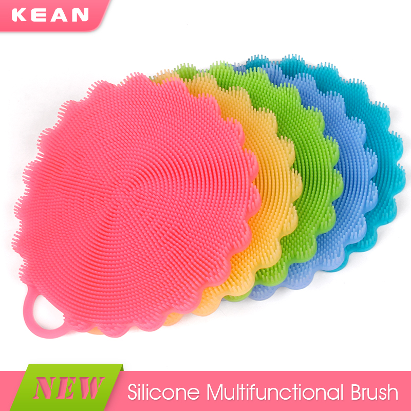 Wholesale colorful soft bpa free silicone metal dish scrubber