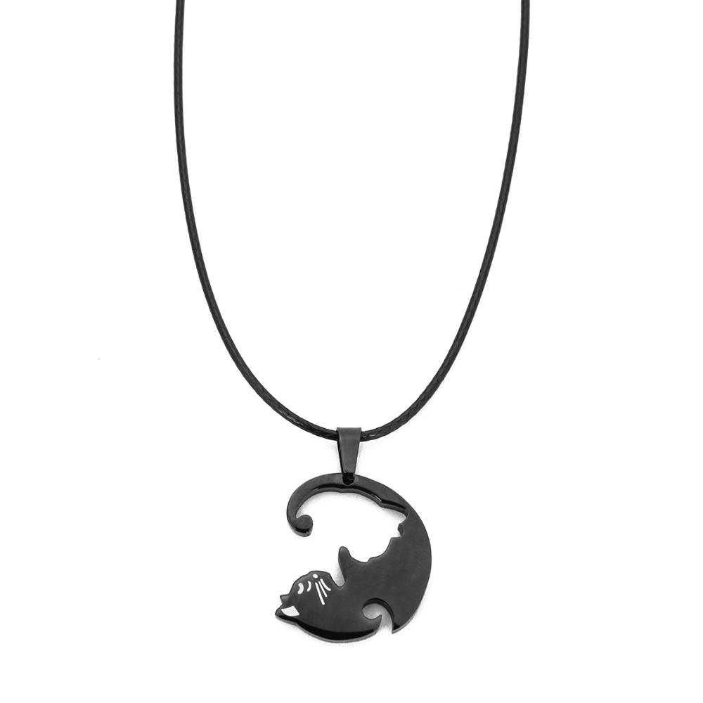 금 Stainless Steel Necklace 동물 펜던트 Cats 펜던트 콜리어 Necklaces 대 한 Men Male Birthday Party 보석