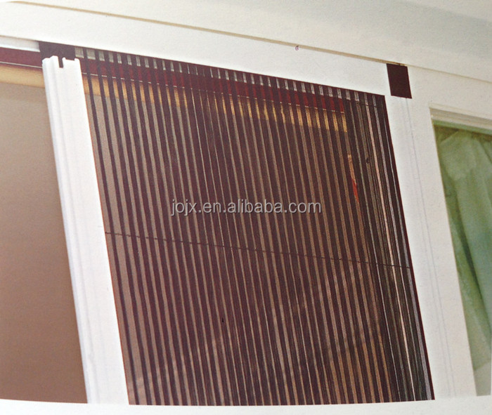 Popular retractable interior screen door easy to install for Accordion retractable screen doors