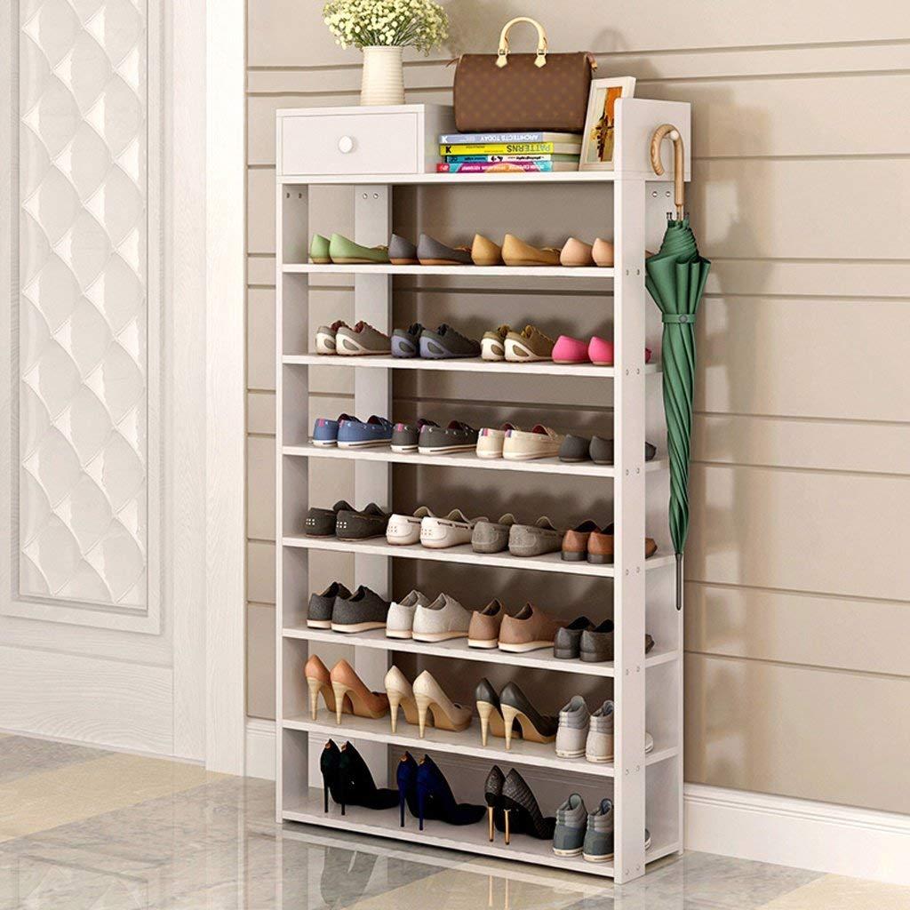 GLJ Simple Modern Shoe Rack Simple Home With Drawer Storage Rack Shoe rack (Color : #4)