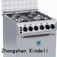 Easy operating gas stove/gas cooker with gas oven
