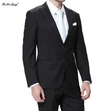 2015 New Arrival Business Suit Jacket Mens Luxury Casual Wedding Suits Classic Groom Suit ( Blazer + Pants) For Men Gray Tuxedo