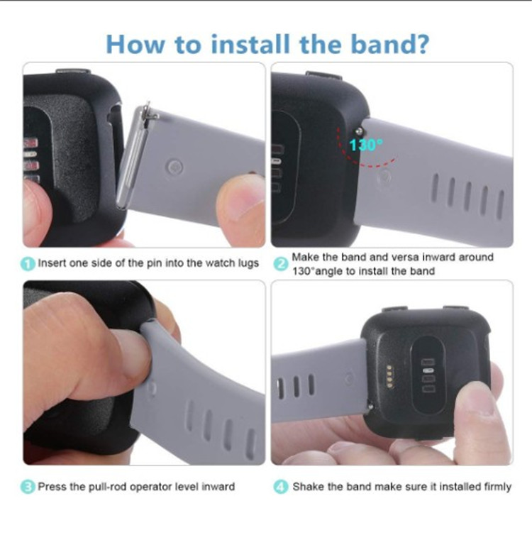 Silicone Adjustable Replacement Sport Strap Fitbit Versa Bands for men