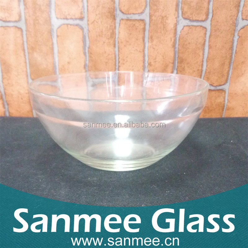 China Factory High Quality Glass Flat Glass Bowl,Round Glass Bowl Vase